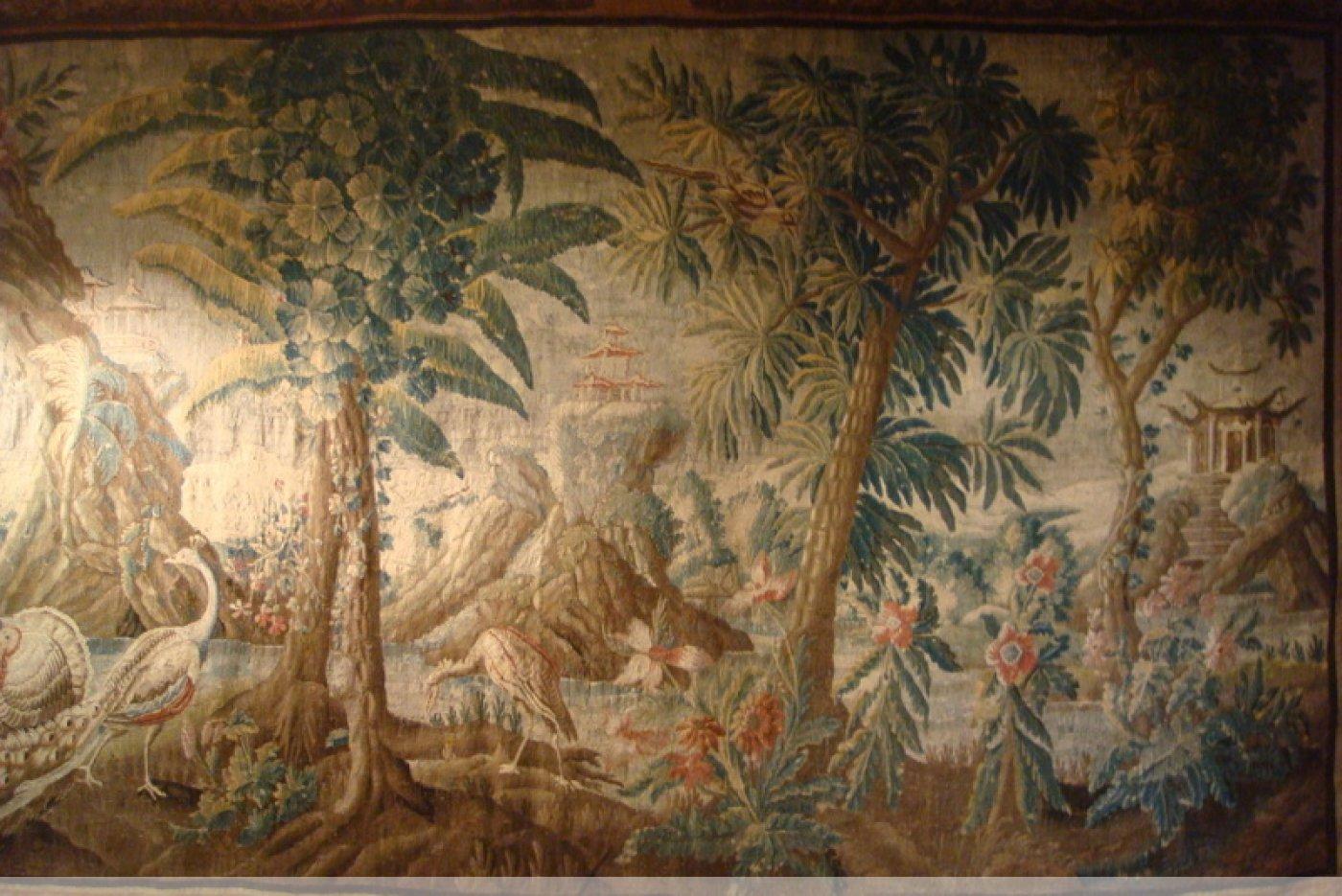 Grande tapisserie d 39 aubusson d 39 apr s pillement xviiie si cle - Tapisserie murale ancienne ...