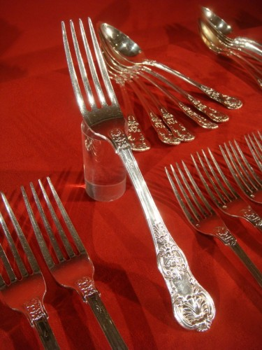 Antiquités - French Cutlery set in solid silver
