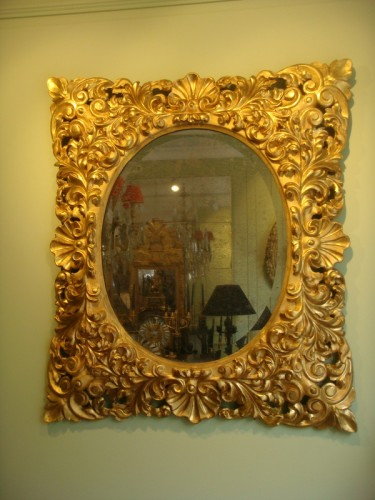 Mirrors, Trumeau  - Large Giltwood Baroque mirror
