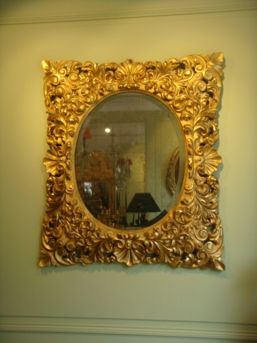 Large Giltwood Baroque mirror  -