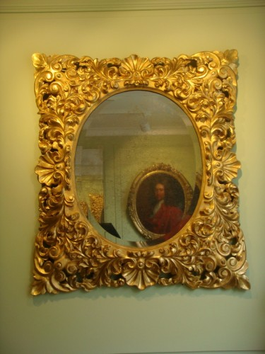 19th century - Large Giltwood Baroque mirror