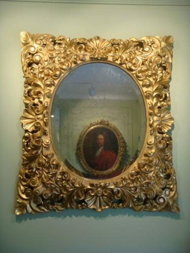 Large Giltwood Baroque mirror  - Napoléon III