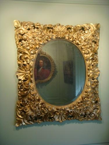 Napoléon III - Large Giltwood Baroque mirror
