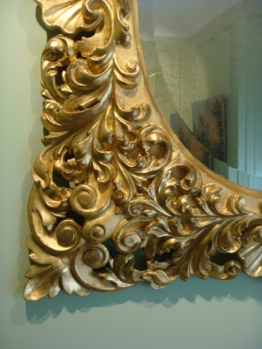 Antiquités - Large Giltwood Baroque mirror