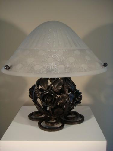 Antiquités - Mushroom lamp - Daum Nancy circa 1930