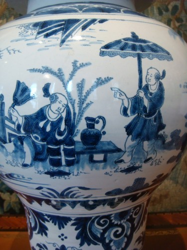 18th century - Nevers faience vase with Chinese decor