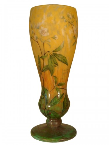 Daum  - Vase in glass paste, Jasmine Decor