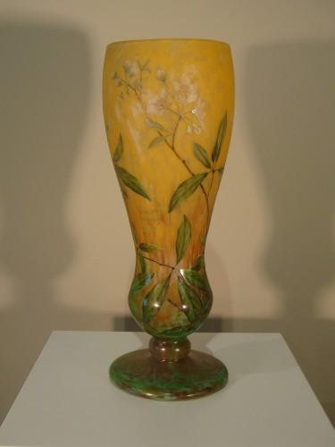Daum  - Vase in glass paste, Jasmine Decor - Glass & Crystal Style Art nouveau