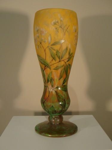 Daum  - Vase in glass paste, Jasmine Decor -