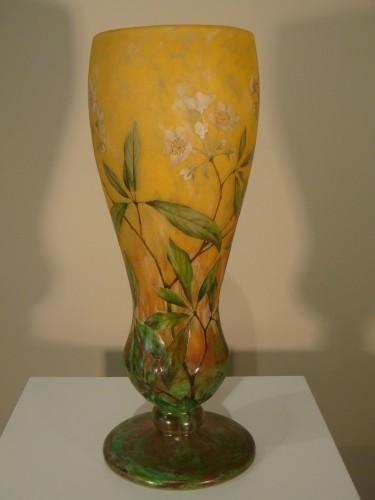 Daum  - Vase in glass paste, Jasmine Decor - Art nouveau