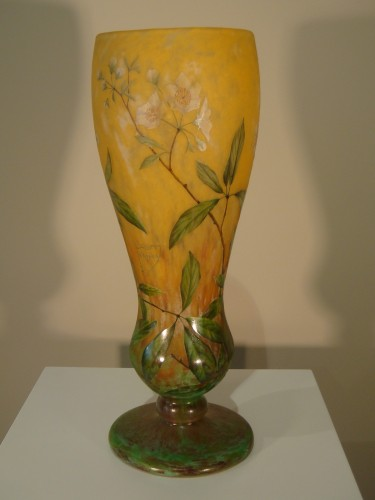 Art nouveau - Daum  - Vase in glass paste, Jasmine Decor