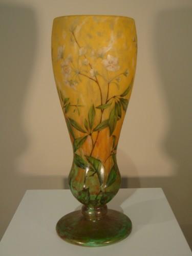 Antiquités - Daum  - Vase in glass paste, Jasmine Decor