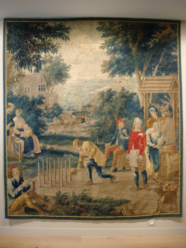 """Tapestry """"Game of skittles"""" Flanders Brussels - Period early 18th century - Tapestry & Carpet Style Louis XV"""