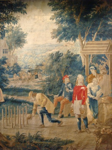 """Tapestry & Carpet  - Tapestry """"Game of skittles"""" Flanders Brussels - Period early 18th century"""