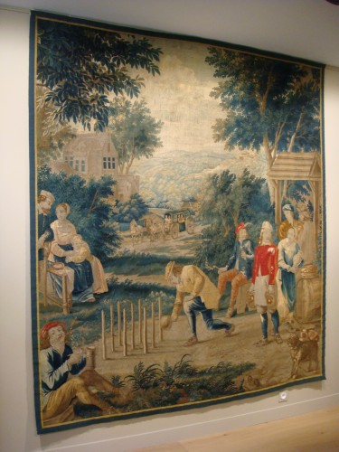 """Tapestry """"Game of skittles"""" Flanders Brussels - Period early 18th century -"""
