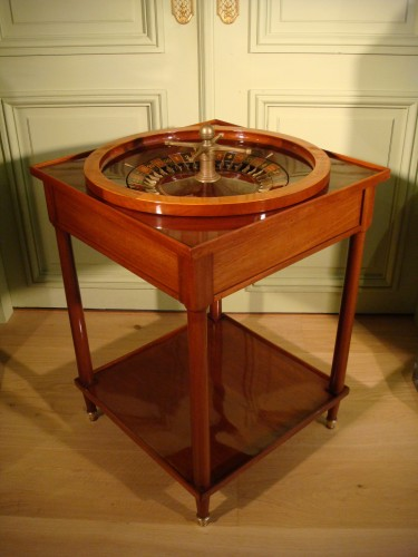 Table Roulette Jeu de Salon - Louis Moreau Fils - Antiquaires Balzeau & Brion