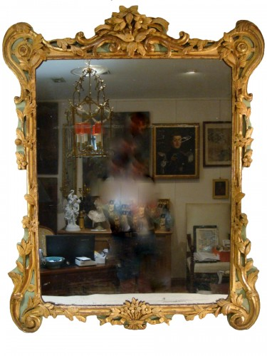 Large woodwork mirror - Louis XV period