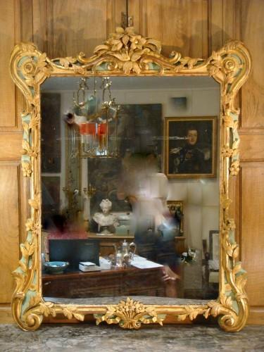 Mirrors, Trumeau  - Large woodwork mirror - Louis XV period