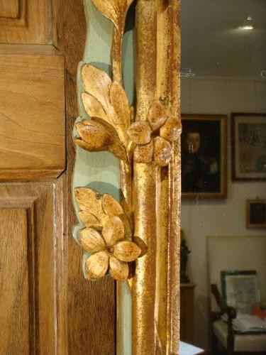 Large woodwork mirror - Louis XV period - Louis XV
