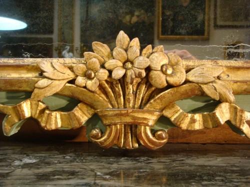 Antiquités - Large woodwork mirror - Louis XV period