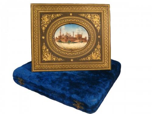 Miniature representing Jama Masjid in Delhi