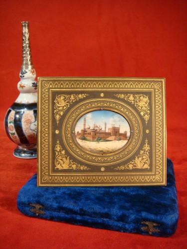 Miniature representing Jama Masjid in Delhi - Objects of Vertu Style