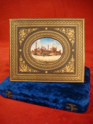 Miniature representing Jama Masjid in Delhi -