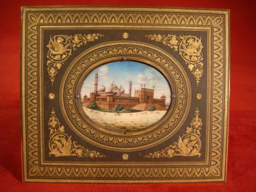 19th century - Miniature representing Jama Masjid in Delhi