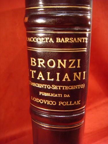 Large book on Italian bronzes - Barsanti -