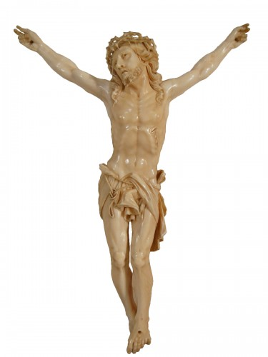 Large Christ in Ivory - Dieppe early 19th century