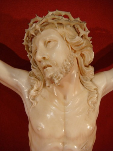 Religious Antiques  - Large Christ in Ivory - Dieppe early 19th century