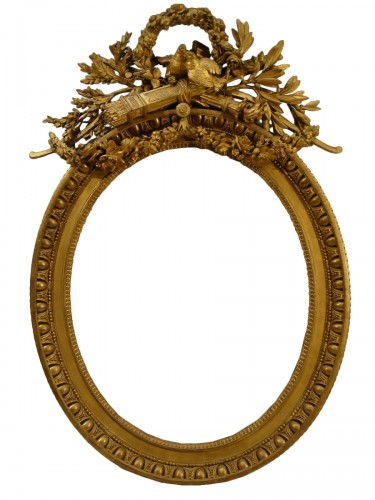 Claude Infroit - Gilded wood frame from the Louis XVI period