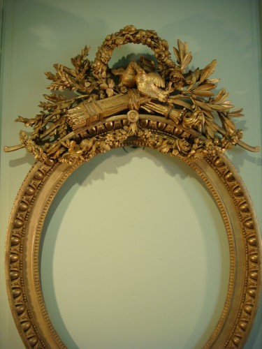 Decorative Objects  - Claude Infroit - Gilded wood frame from the Louis XVI period