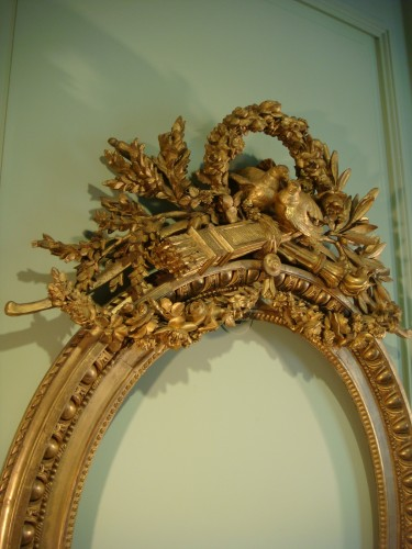 Claude Infroit - Gilded wood frame from the Louis XVI period -