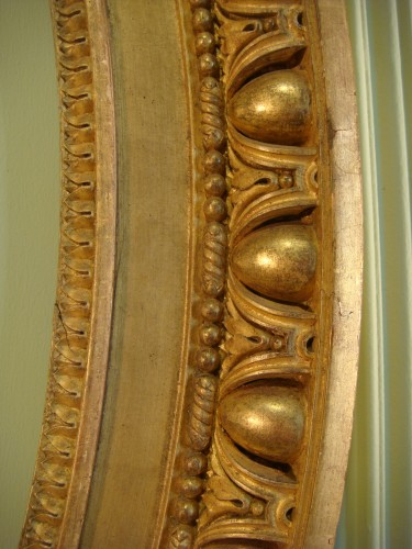 Louis XVI - Claude Infroit - Gilded wood frame from the Louis XVI period