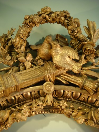 Antiquités - Claude Infroit - Gilded wood frame from the Louis XVI period