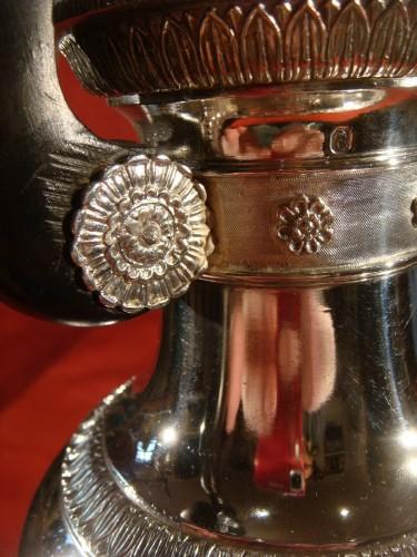 Goldsmith Bompart - Large silver coffee pot - Restauration - Charles X
