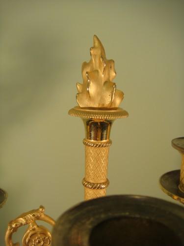 Pair of winged angel candelabras - Restoration Period - Restauration - Charles X