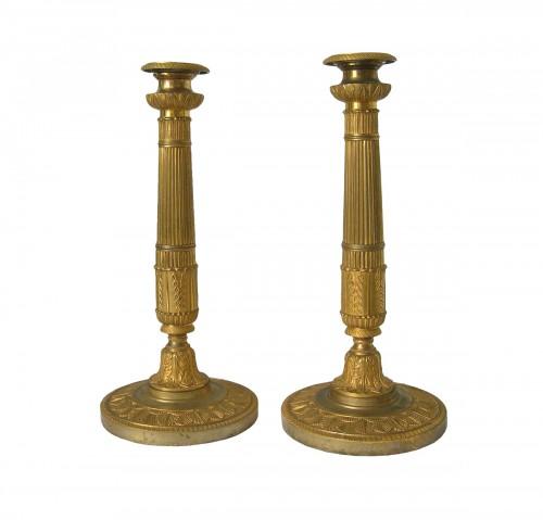 A pair of First Empire Candlesticks