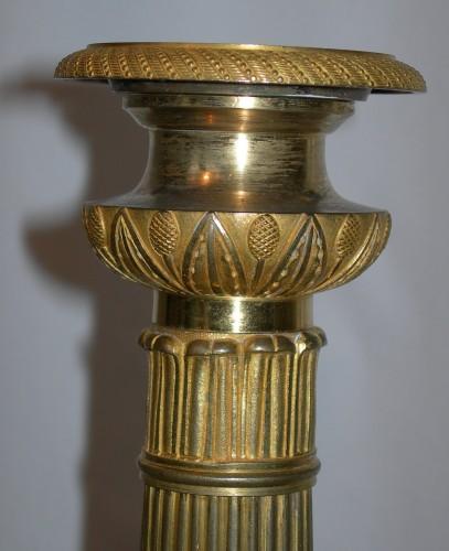 Lighting  - A pair of First Empire Candlesticks