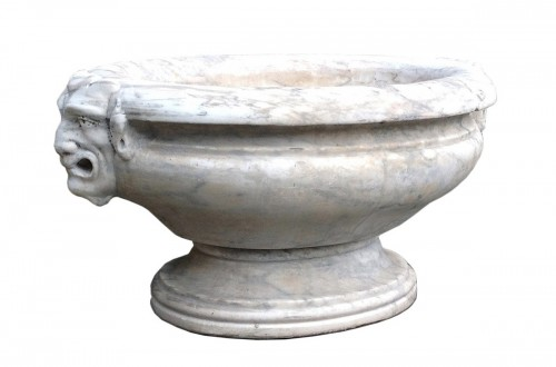A marble wine-cooler