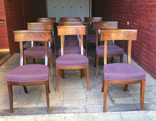 set of 10 mahogany chairs