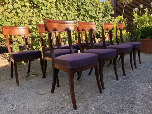 set of 10 mahogany chairs - Seating Style Restauration - Charles X