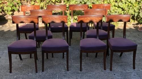 Seating  - set of 10 mahogany chairs