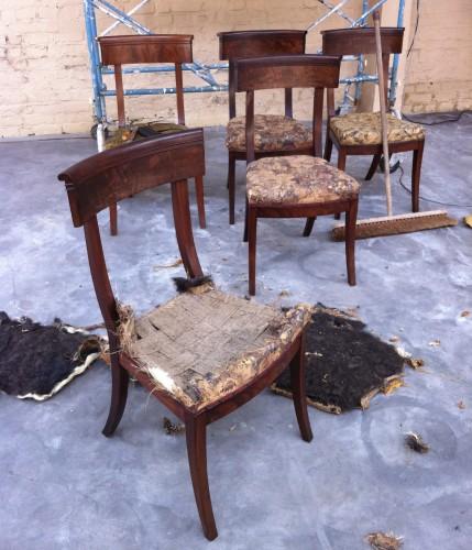 set of 10 mahogany chairs -
