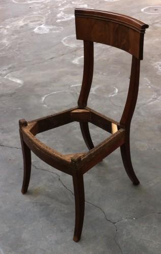 19th century - set of 10 mahogany chairs