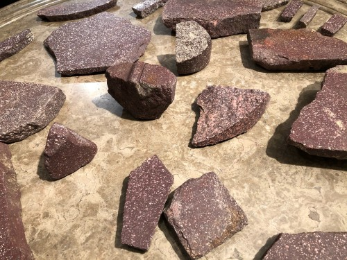 BC to 10th century - A collection of 45 ancient imperial Egyptian porphyry fragments
