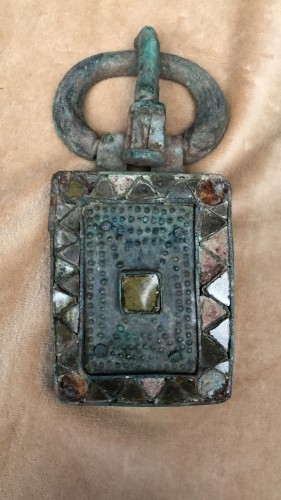 Visigothic bronze belt buckle - Ancient Art Style
