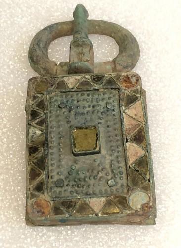 Ancient Art  - Visigothic bronze belt buckle
