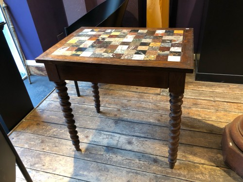 Italian table with specimen marble top - Furniture Style Restauration - Charles X
